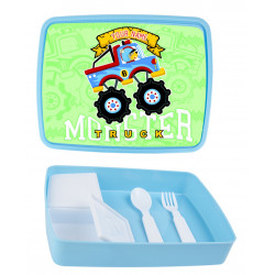 Personalised Plastic Lunch Box PLB10 Monster Truck