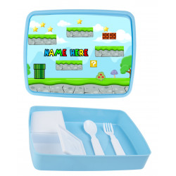Personalised Plastic Lunch Box PLB12 Game On