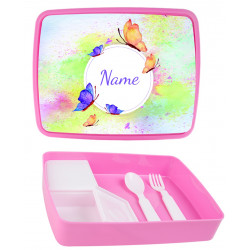 Personalised Plastic Lunch Box PLB16 Butterflies