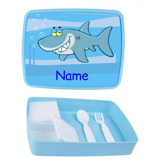 Personalised Plastic Lunch Box PLB19 Shark