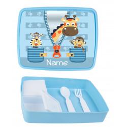 Personalised Plastic Lunch Box PLB5 Jungle