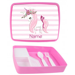 Personalised Plastic Lunch Box PLB7 Unicorn