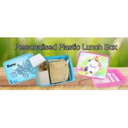 Personalised Plastic Lunch Box PLB20 Flowers