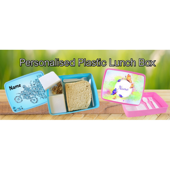 Personalised Plastic Lunch Box PLB6 Construction