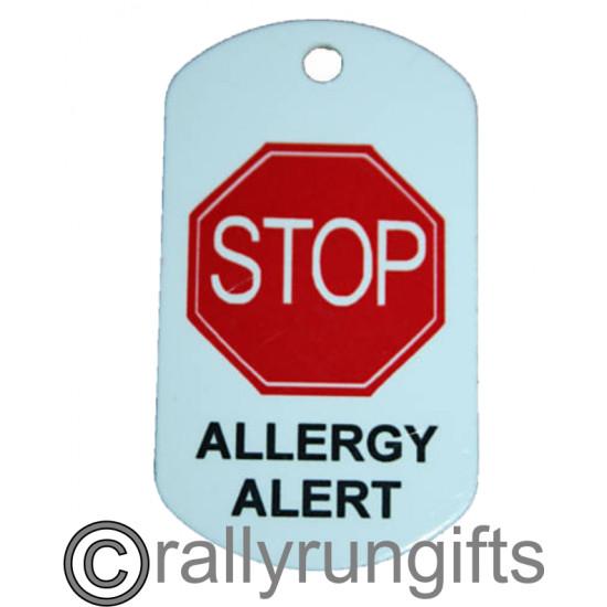PERSONALISED Allergy Tag Keyring Tag