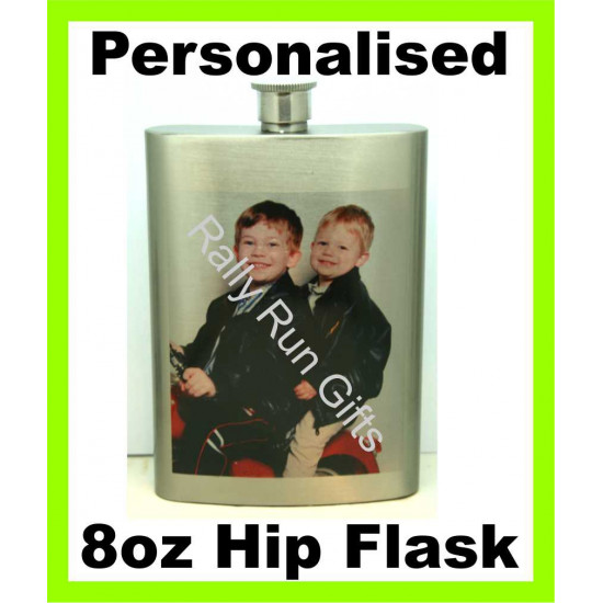 Personalised Stainless SILVER HIP FLASK