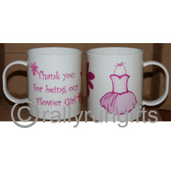 Personalised Flower Girl Unbreakable Plastic Mugs