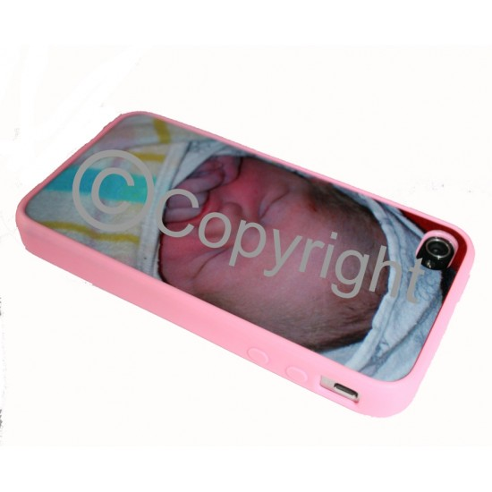PERSONALISED RUBBER EDGE iPhone 4 / 4s Case Apple Cover
