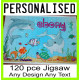 120 piece PERSONALISED Jigsaw Puzzle add PHOTO text A4