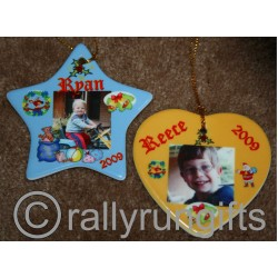 PERSONALISED Ceramic Ornament Christmas PHOTO