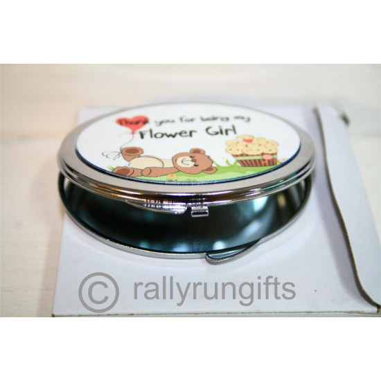 PERSONALISED Compact Mirror OVAL Shape