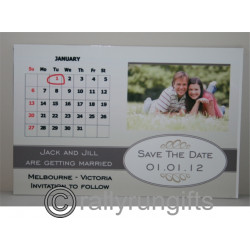 Personalised save the date Magnet Metal