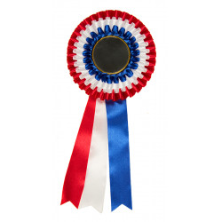 Rosette 130mm Triple Colour with Custom Printed 50mm insert ROS-F