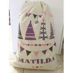 Personalised Santa Sack - Purple Pennant