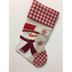 Personalised Christmas Stocking - Snowman Design B