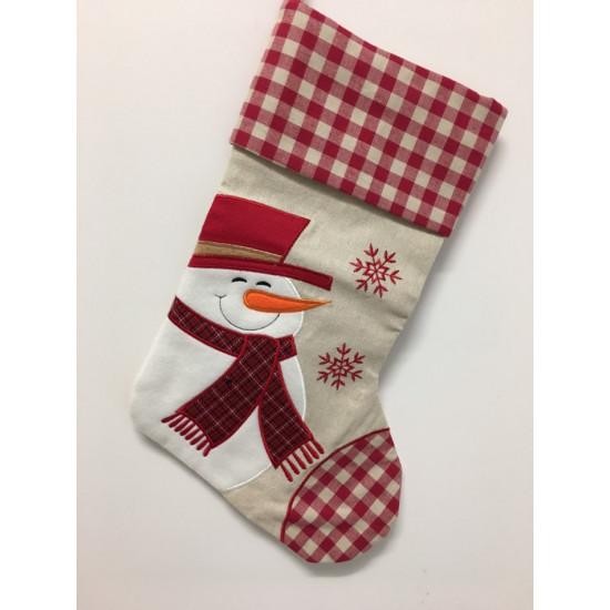 Personalised Christmas Stocking - Snowman Design B