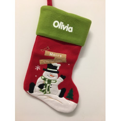 Personalised Christmas Stocking - snowman Design E