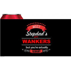 Personalised stubby holder coolers STUB128 Stepdad