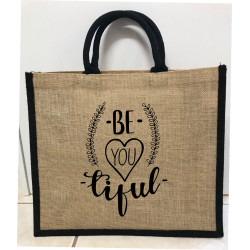 Hessain Jute Tote Bag - HJTB07 Beautiful