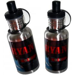 500ml SILVER Stainless Steel Water Bottle Personalised