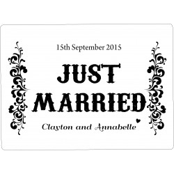 Personalised Wedding Car Decoration Door Sign Deco WP3