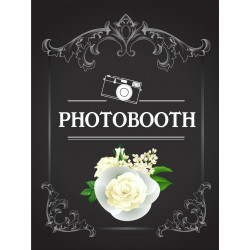 Personalised Metal Wedding Chalkboard design Photo Booth Sign WMS13