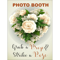 Personalised Metal Wedding strike a pose Photo Booth Sign WMS14