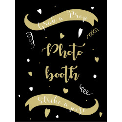 Personalised Metal Wedding Gold Photo Booth Sign WMS15